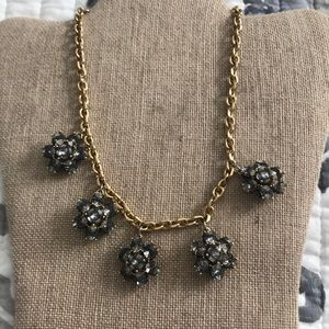 Ann Taylor gold black and white necklace EUC